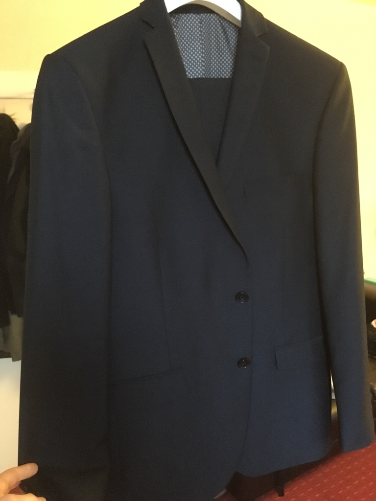 Limehaus suit size L, trousers 36in paid 179£