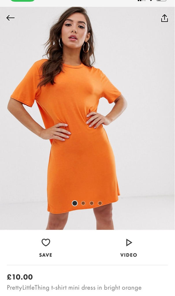 PLT pretty little thing / Asos orange dress