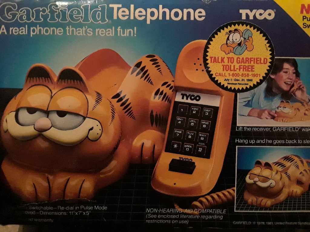 Garfield Telephone by Tyco