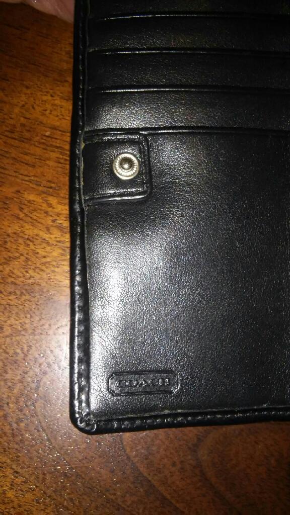 Coach black signature women's wallet