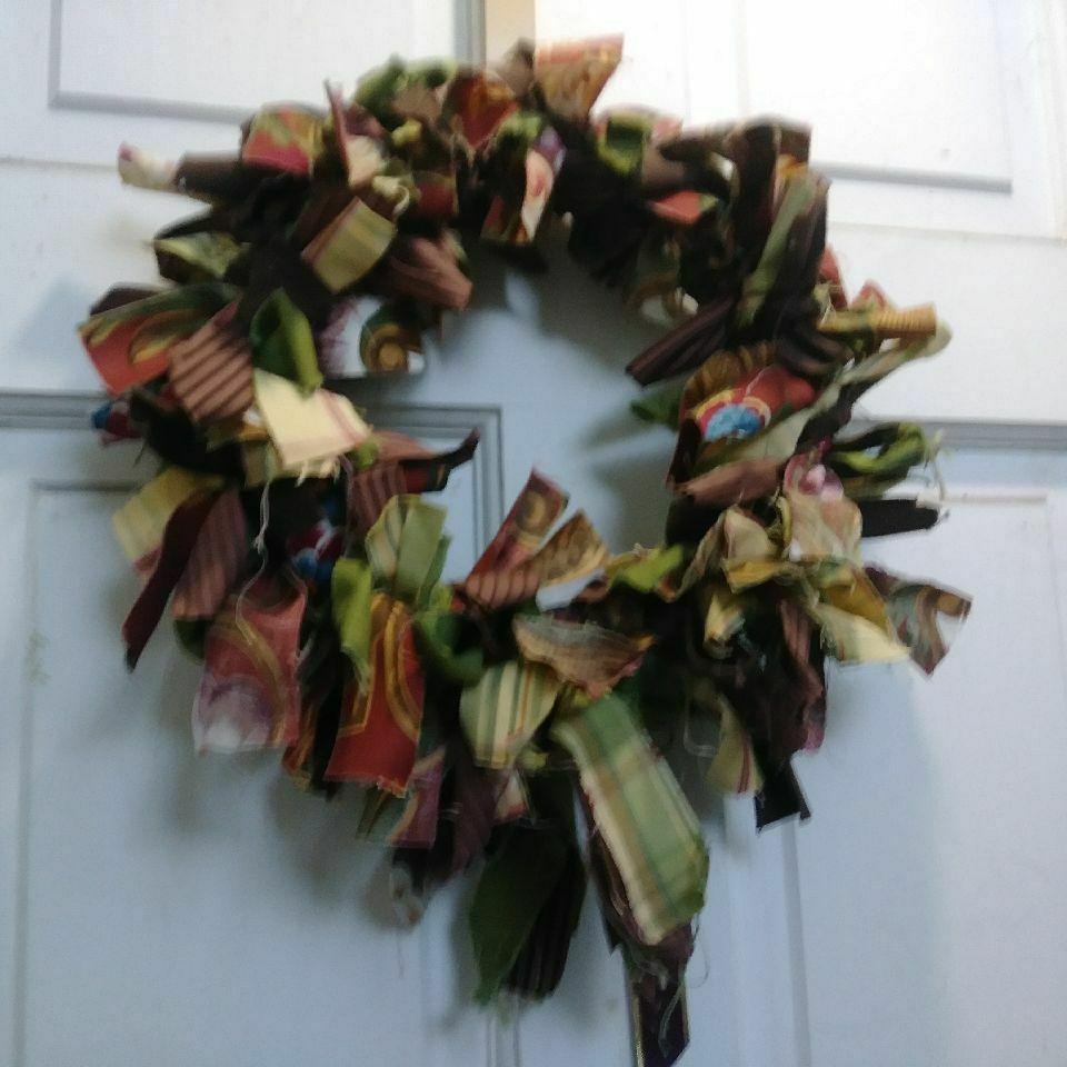 Homemade Ribbon Wreath