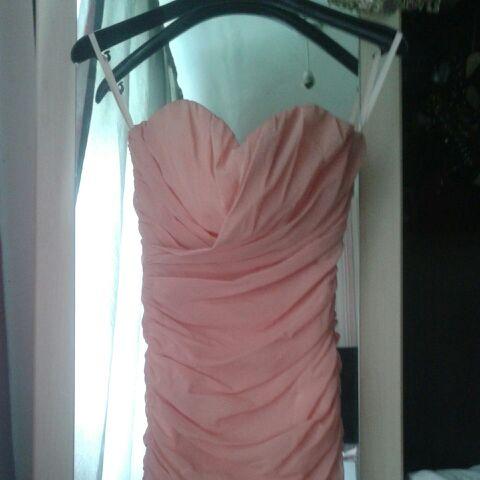 Strapless Baby Pink Dress