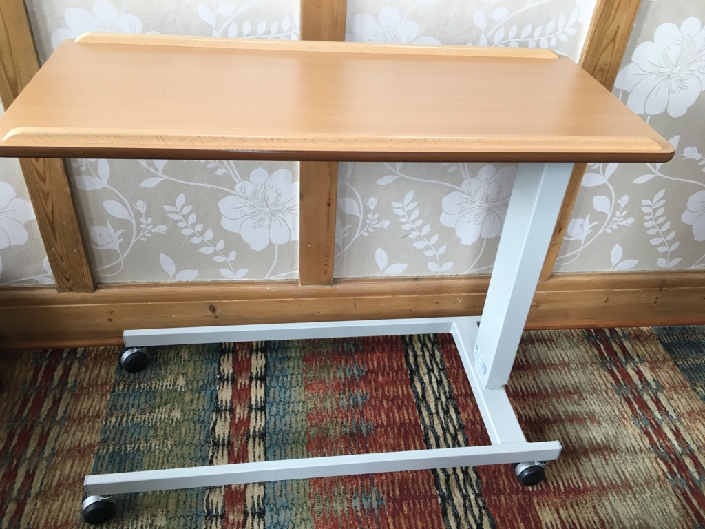 Under bed beech table