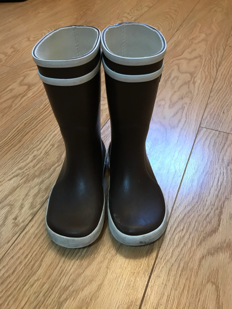 Aigle Kids Unisex Wellies Brown size 27