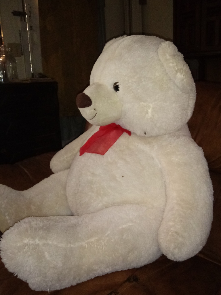 White big plush bear