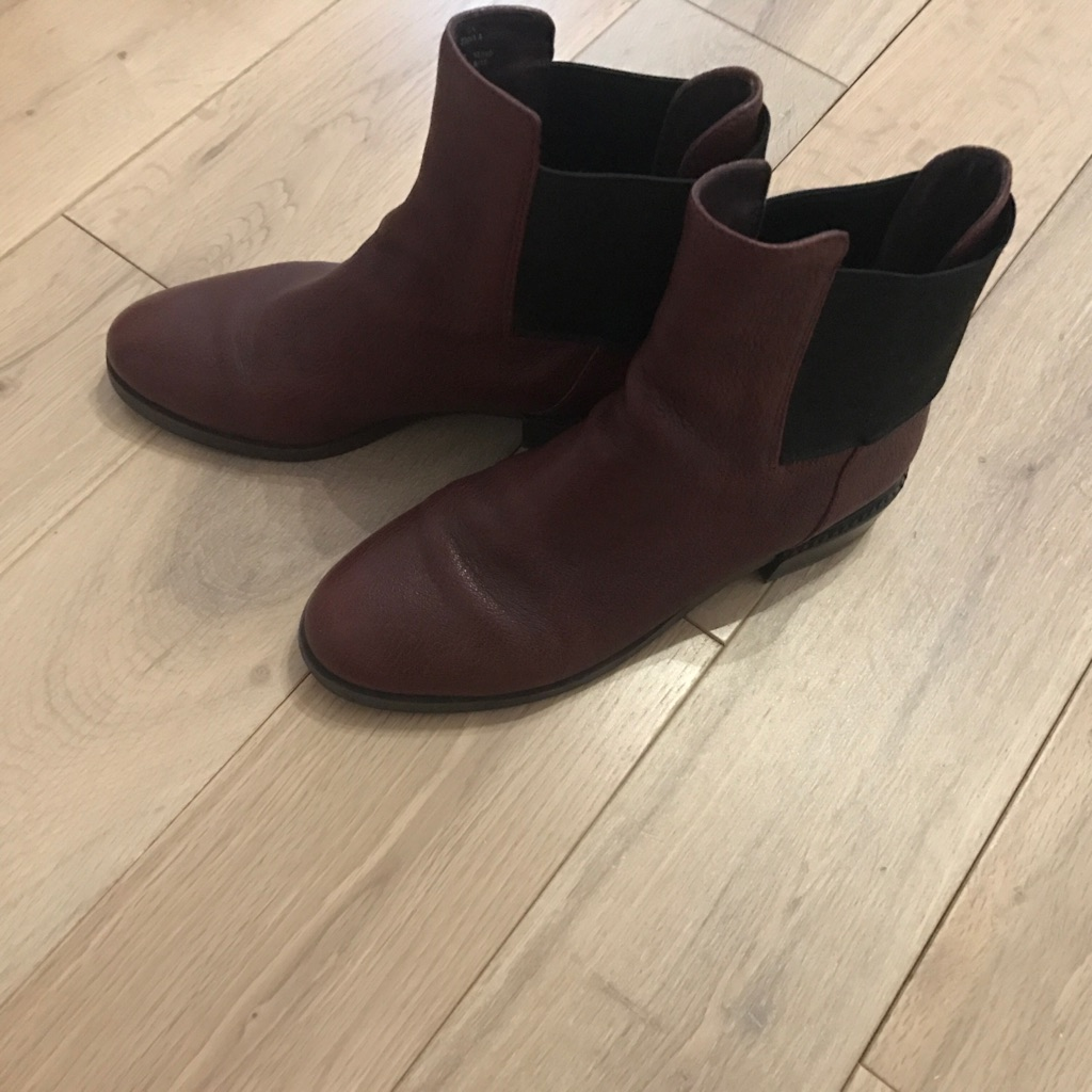 Leather Clarks Boots