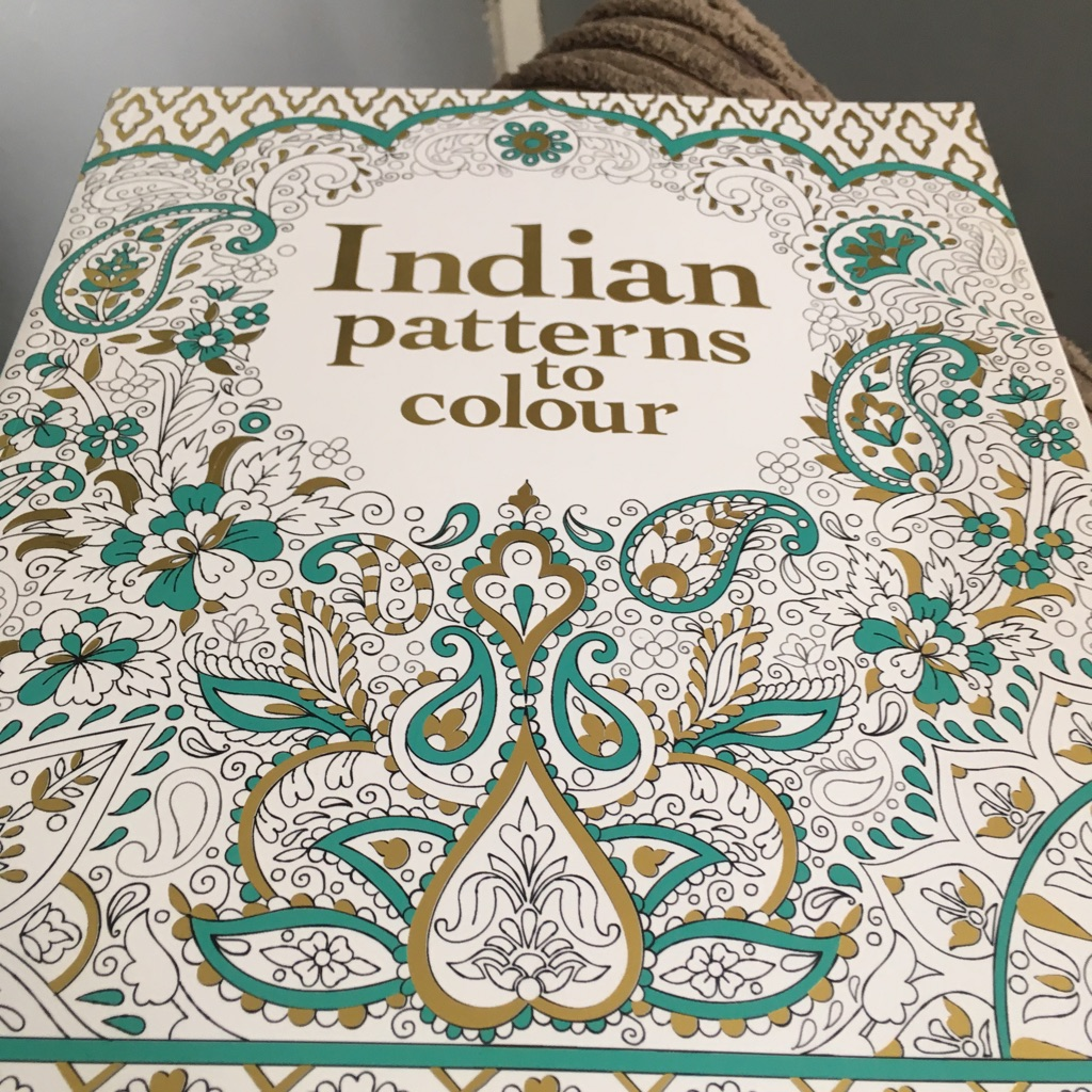 Indian patterns to colour book