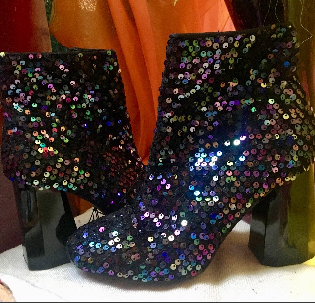 Size 5 Sequinned Ankle Boots
