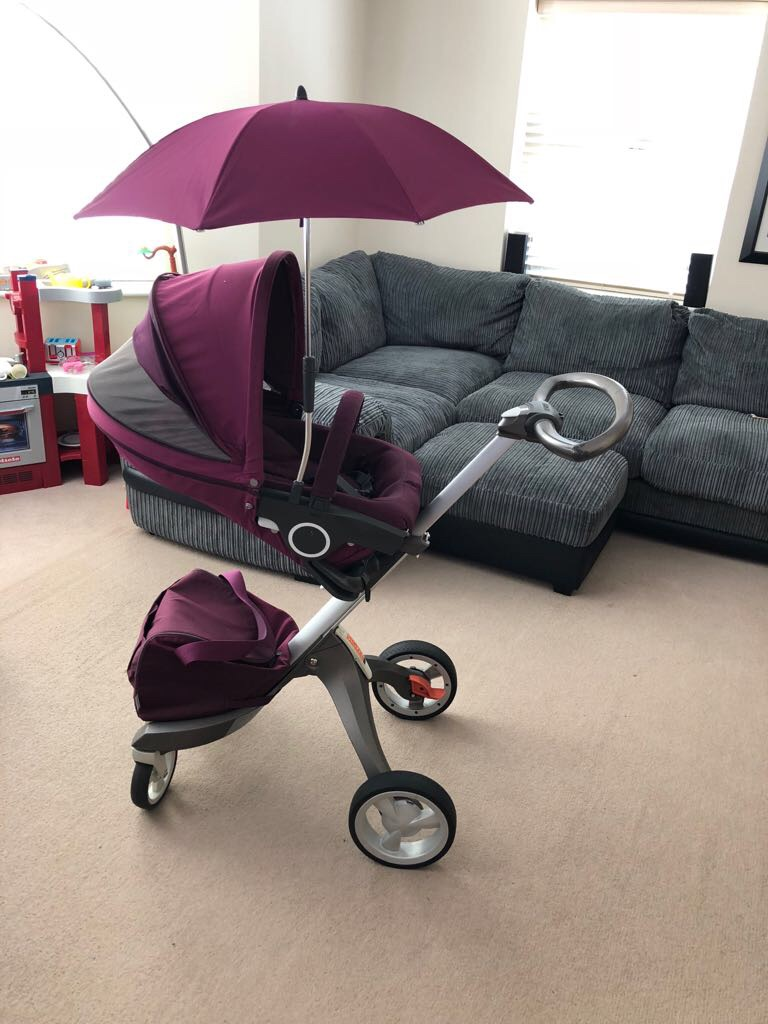 Stokke complete travel system with winter kit and extras