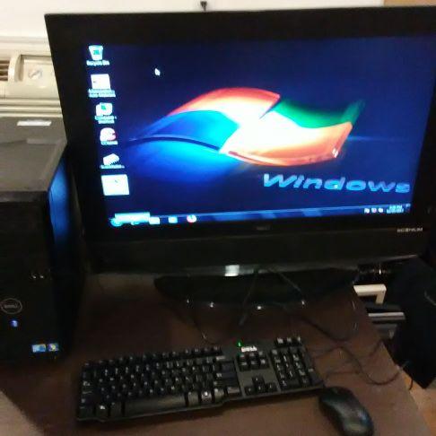Dell Pentium 4 Windows 7 Professional 31 in monitor