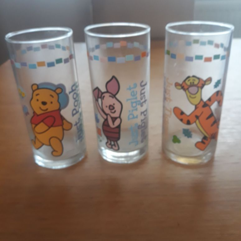 3 x Winnie the pooh glasses