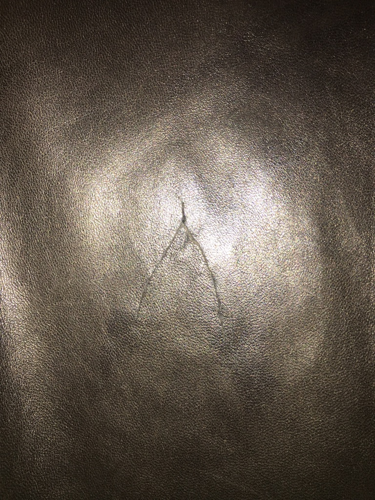 Prada leather long coat
