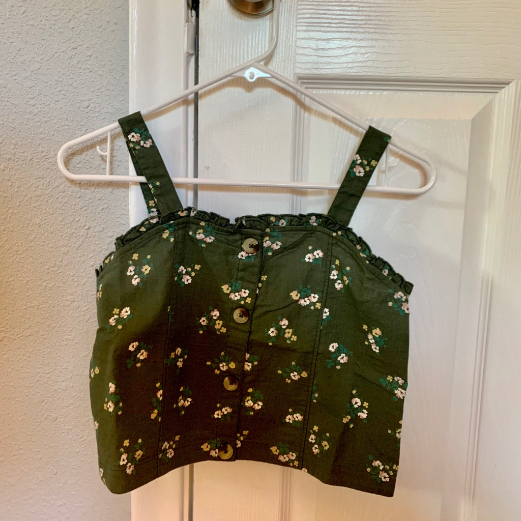 Brand New With Tags Button Front Cropped Tank from Justice