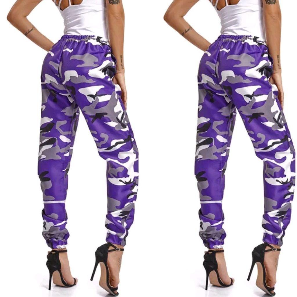 Woman's Camo Cargo Trousers