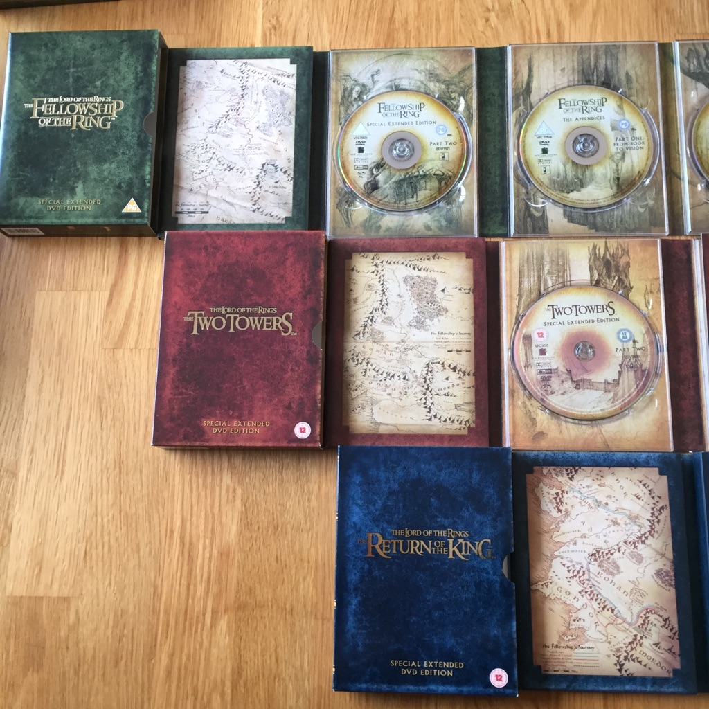 Lord Of The Rings trilogy box set on DVD