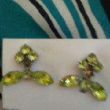 Green. Earings