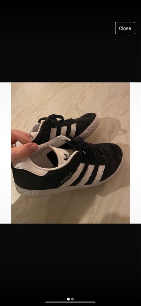 Genuine Adidas Gazelle trainers