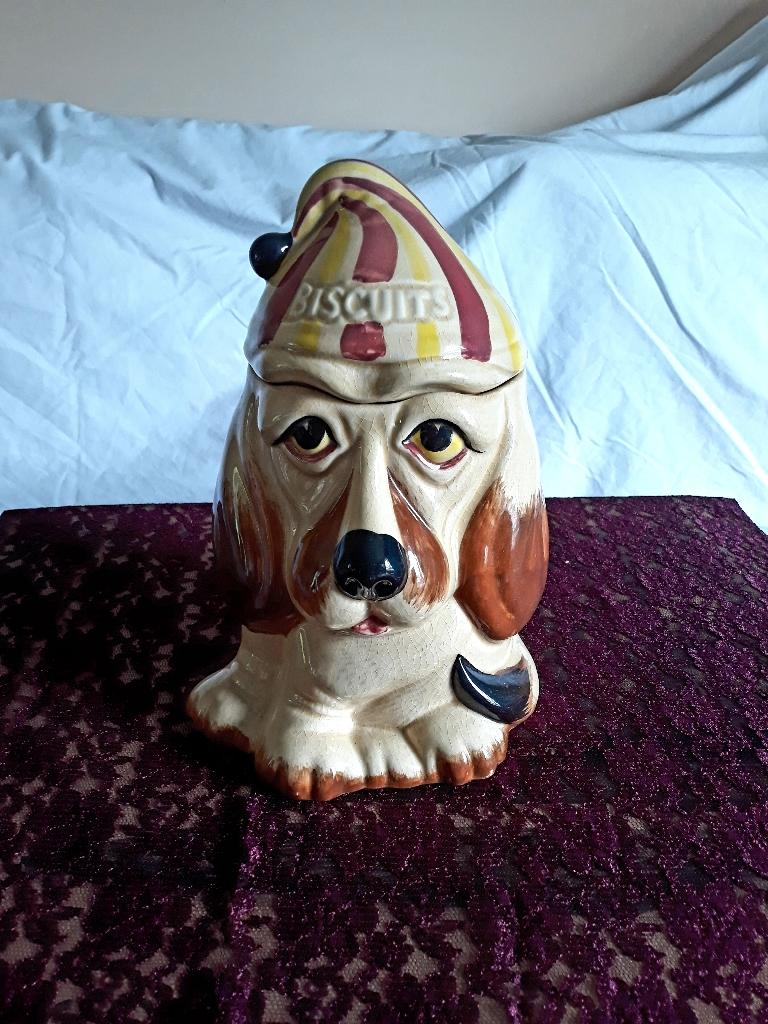 P&K basset hound biscuit jar