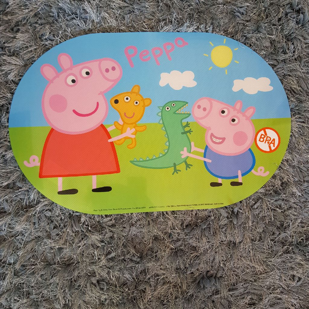 Brand new Peppa pig placemats