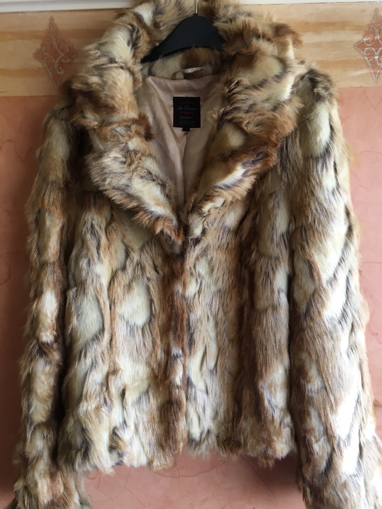 Vintage 80's faux fur ladies jacket