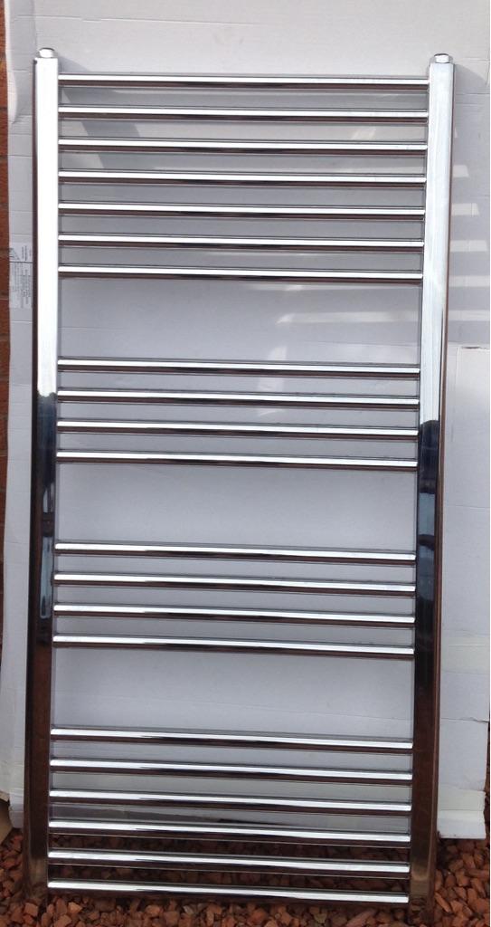 Full Chrome Towel Radiator & fittings