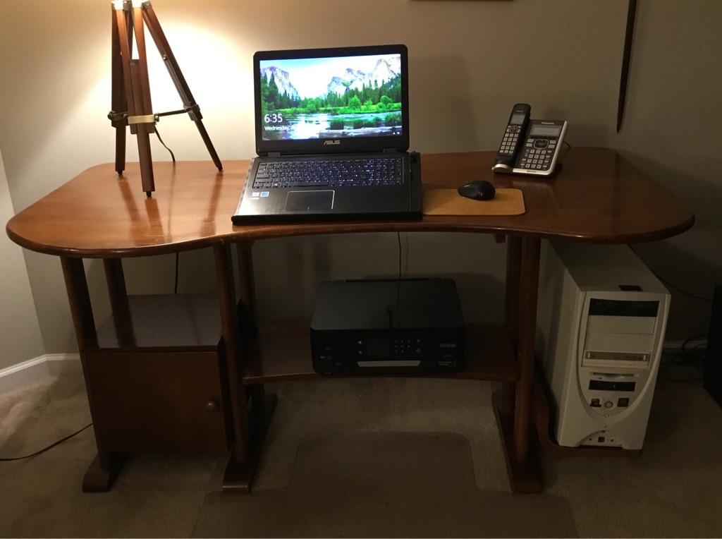 Solid Hardwood Computer Desk