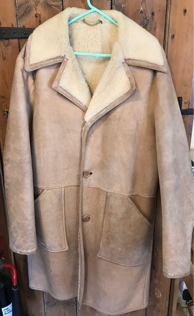 Men's L vintage lambskin coat
