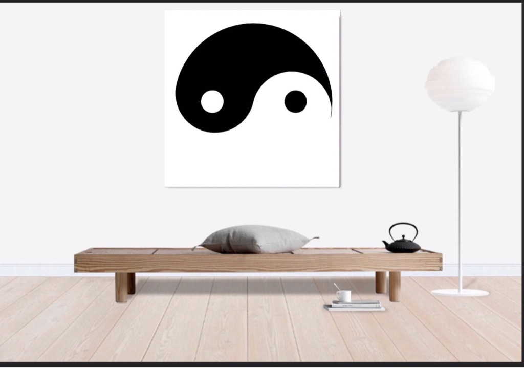 Yin-Yang Canvas print wall hanging ready to display