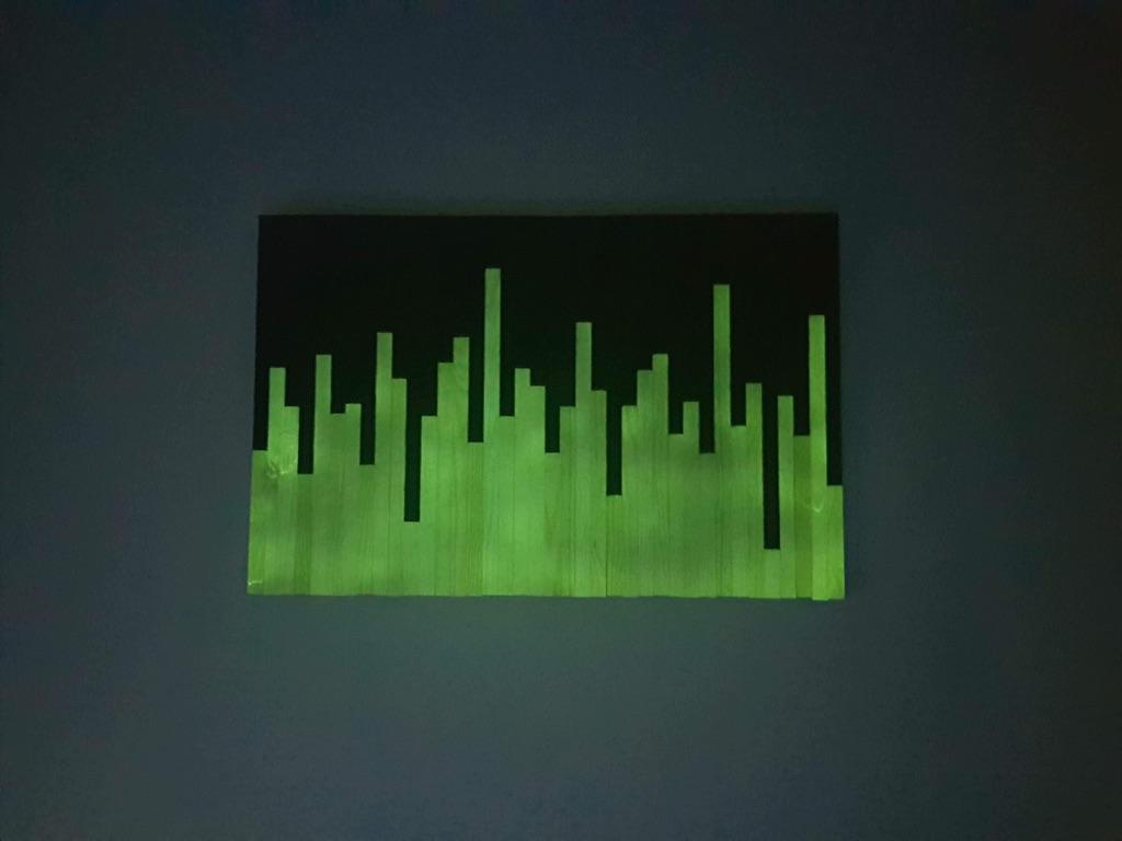 Fluorescent handmade pictures