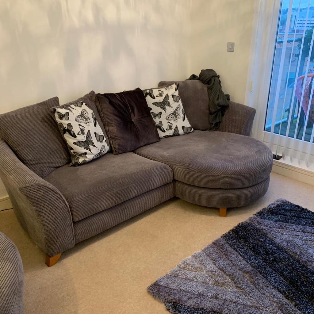 DFS Grey memory foam sofa
