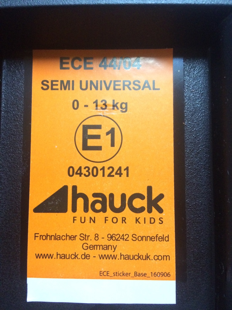 Isofix Car Seat Safety Base(Black)Hauck Comfort Fix Isofix