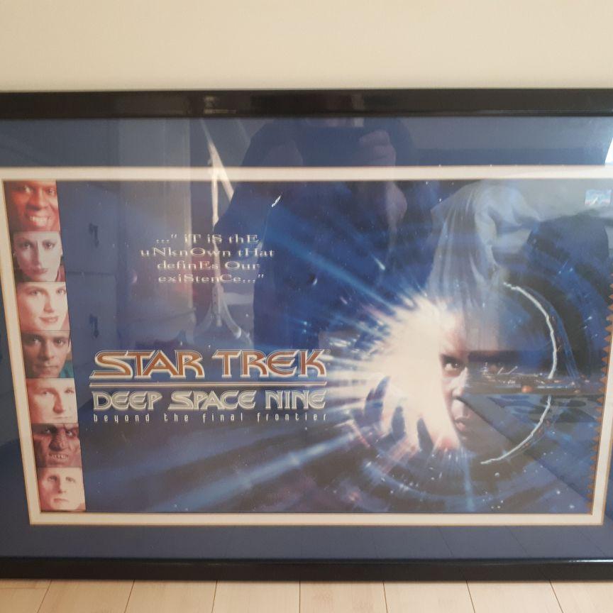 Framed Star Trek Poster