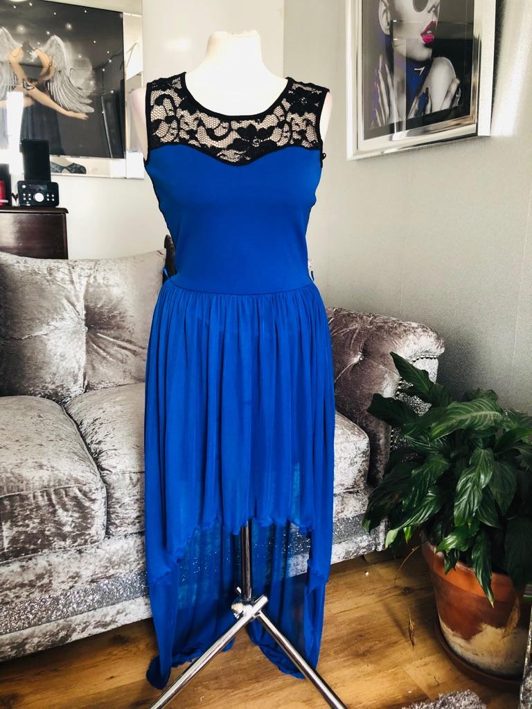 Women's blue dress by Krisp size 10/12