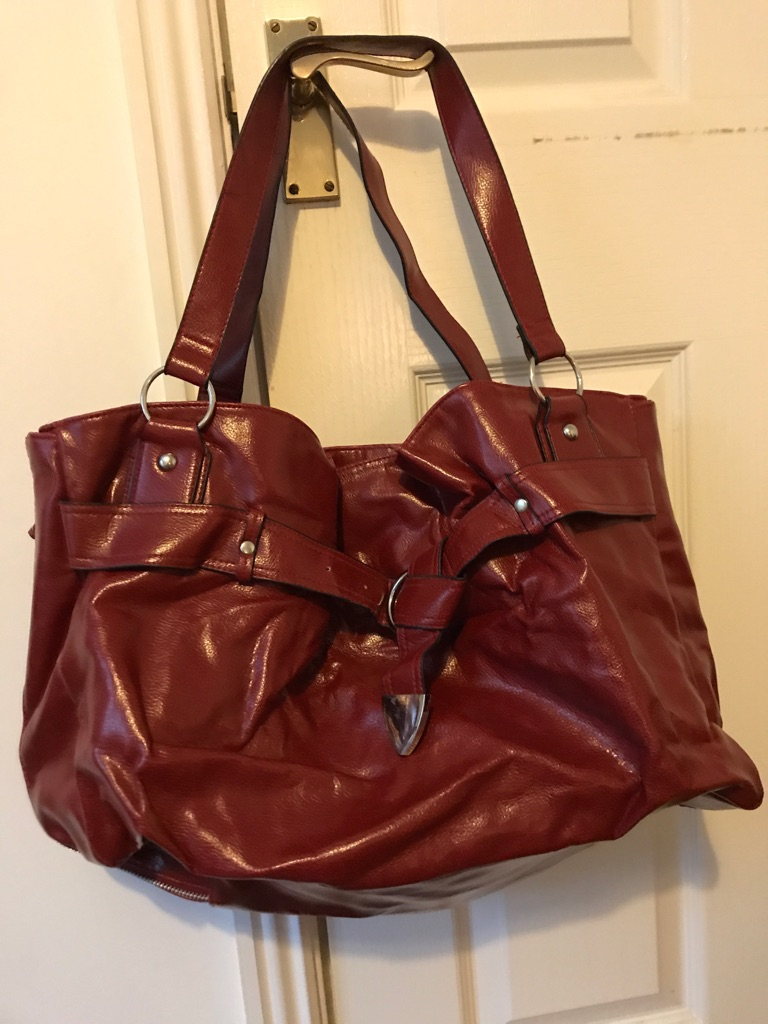 Large ladies red bag