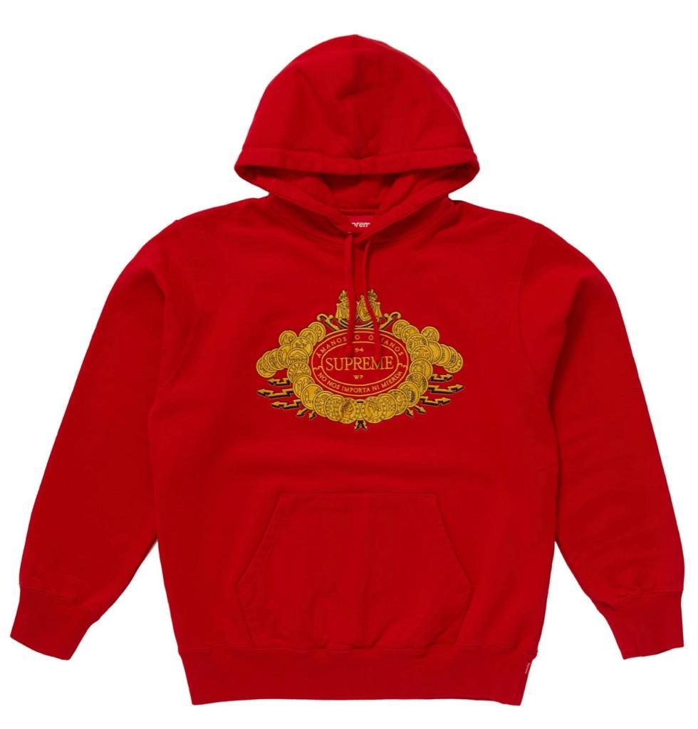 Supreme Love Or Hate Hooded Sweatshirt Red