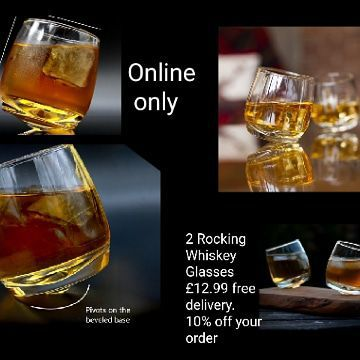 Love these. 2 Rocking Whiskey Glasses