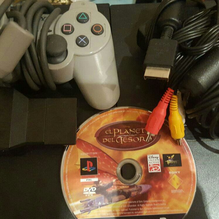 Ps2, games, controller, and extra space for memori card