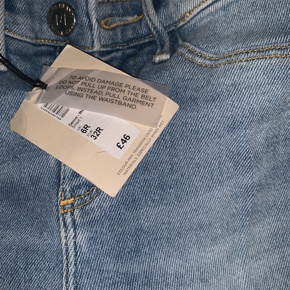 River island jeans size 6r