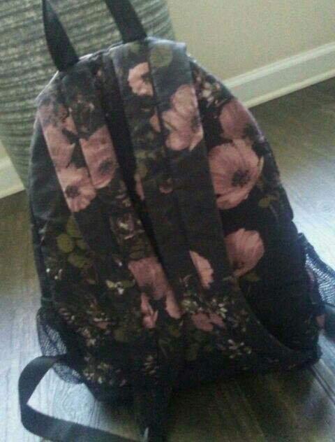 Black rose backpack mossimo