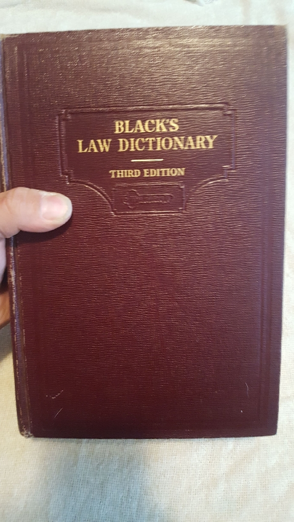 Black's Law Dictionary first printing 3rd Edition 1933 By Henry Campbell black