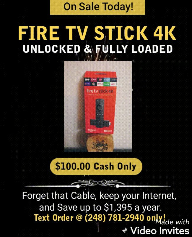 FIRE TV 4K ULTRA HD STICK
