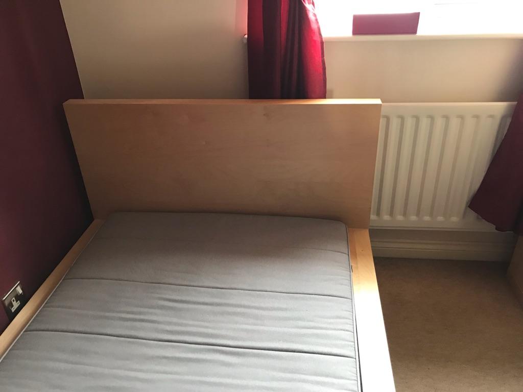 Ikea Malm single bed with mattress