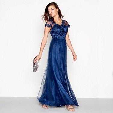navy formal/prom dress