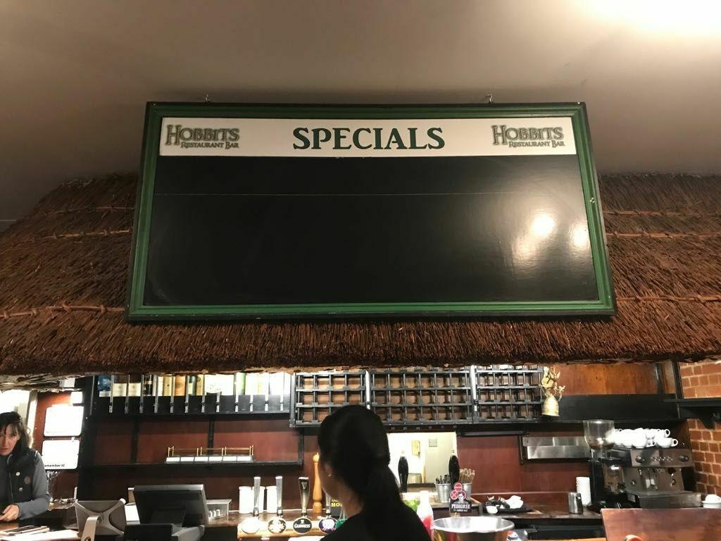 Restaurant blackboard