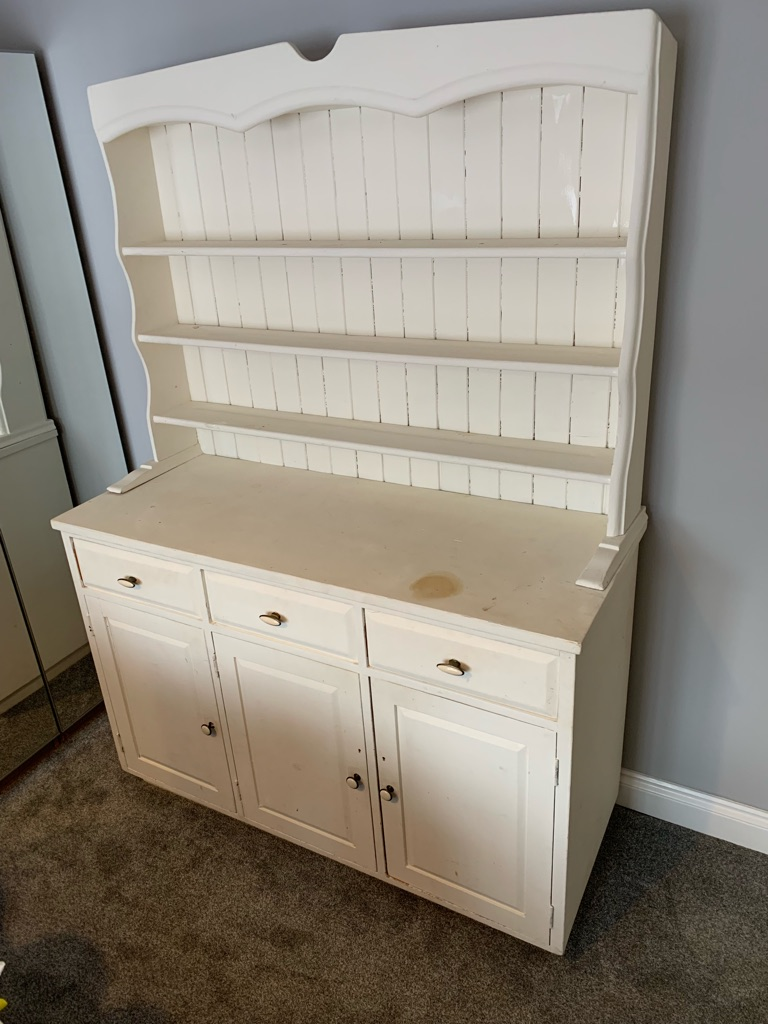 Large Pine Welsh Dresser Painted Cream