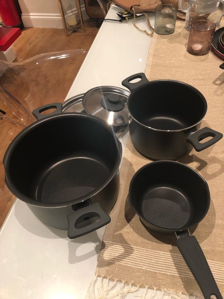 Brand new - 3 pieces set sauce pan