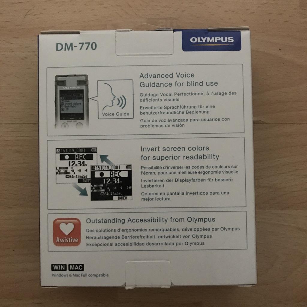 Olympus Digital Voice Recorder DM-770