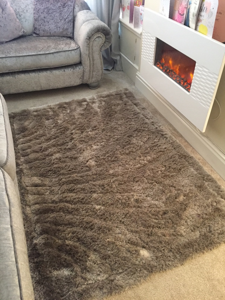 Silver Grey two toned rug