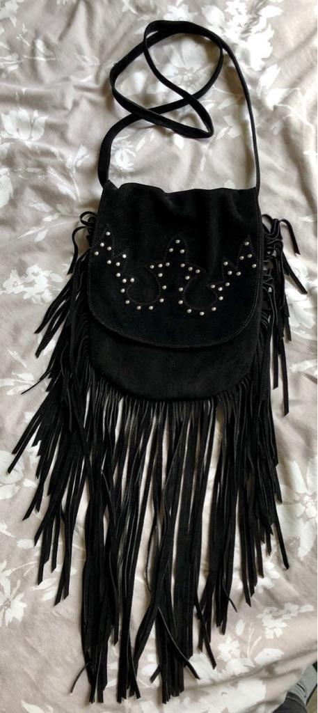 Suede Tassel Fringed Festival Bag