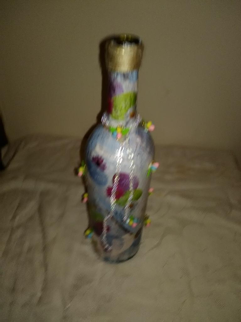 Easter wine bottle decor